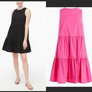 🆕 JCREW SZ 14 Sleeveless black tiered dress